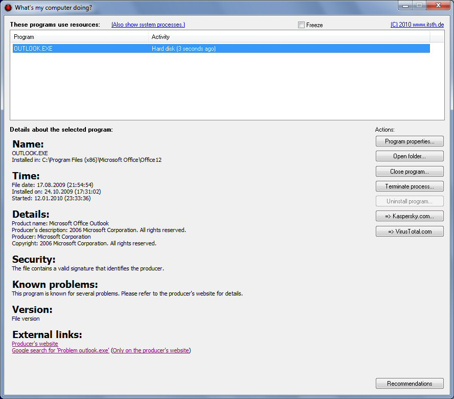 Whats my computer doing? screenshot